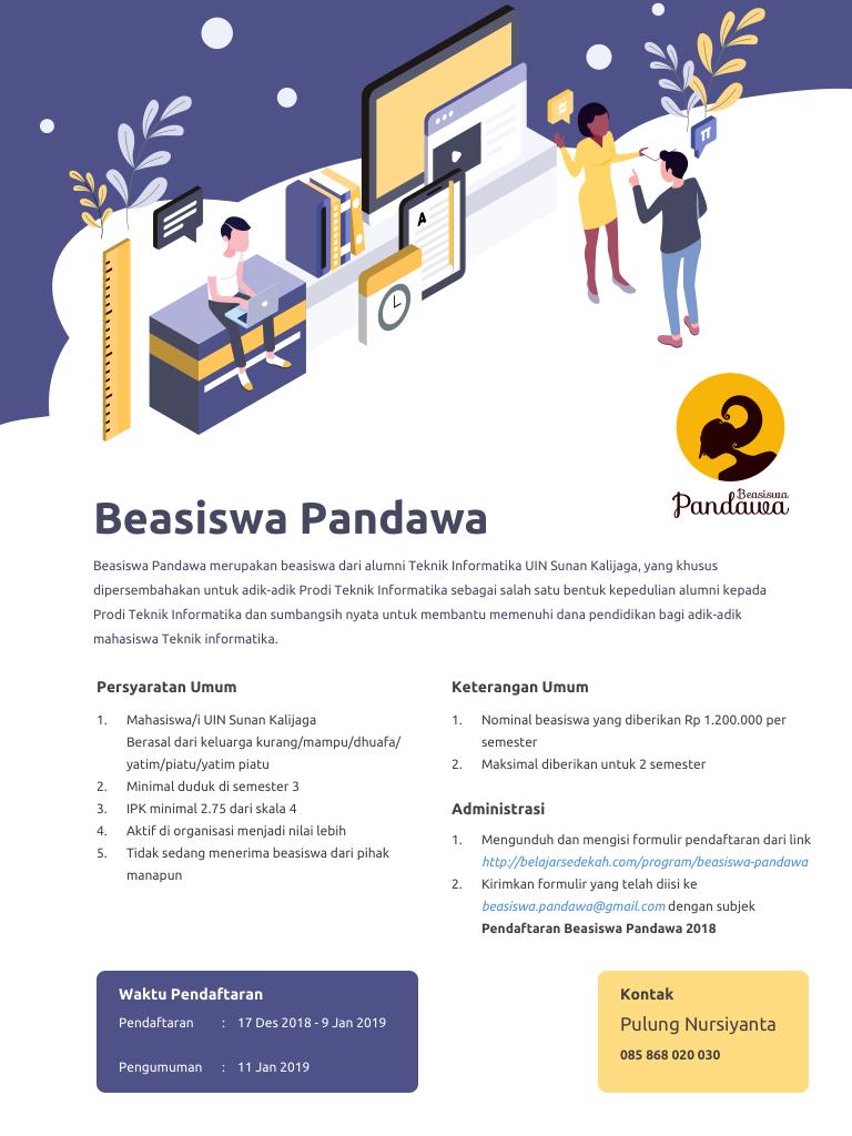 Beasiswa Pandawa Flyer