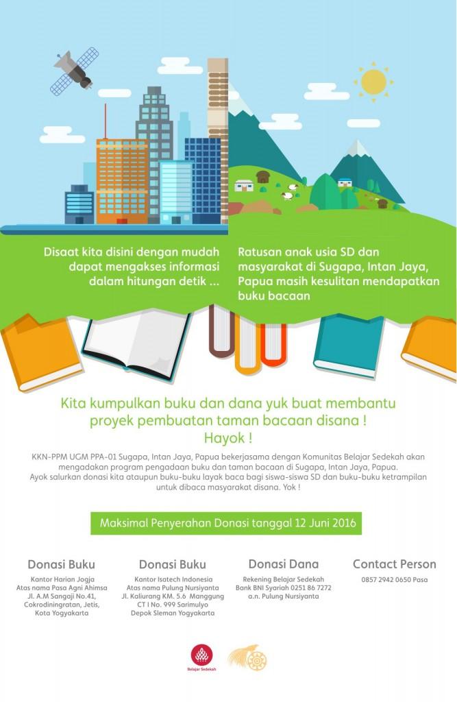 Galang Donasi Taman Baca di Sugapa Papua (1)